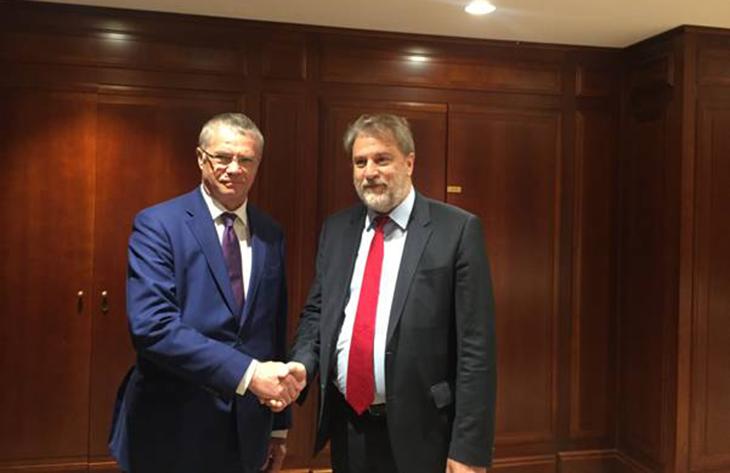 Συνάντηση Νότη Μαριά με τον Αντιπρόεδρο της Gazprom