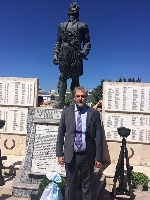 Ο Νότης Μαριάς στις εκδηλώσεις τιμής και μνήμης στα μαρτυρικά Ανώγεια
